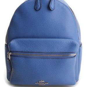 Coach RARE Blue Backpack Pebble Leather
